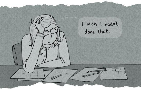 I wish I hadn't done that...